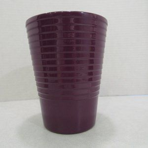 Orchid Pot Planter Utensil Holder Purple Ceramic